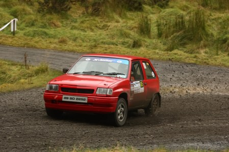 Derek Mackarel - Top Junior Winner of the Rally in his Vauxhall Nova