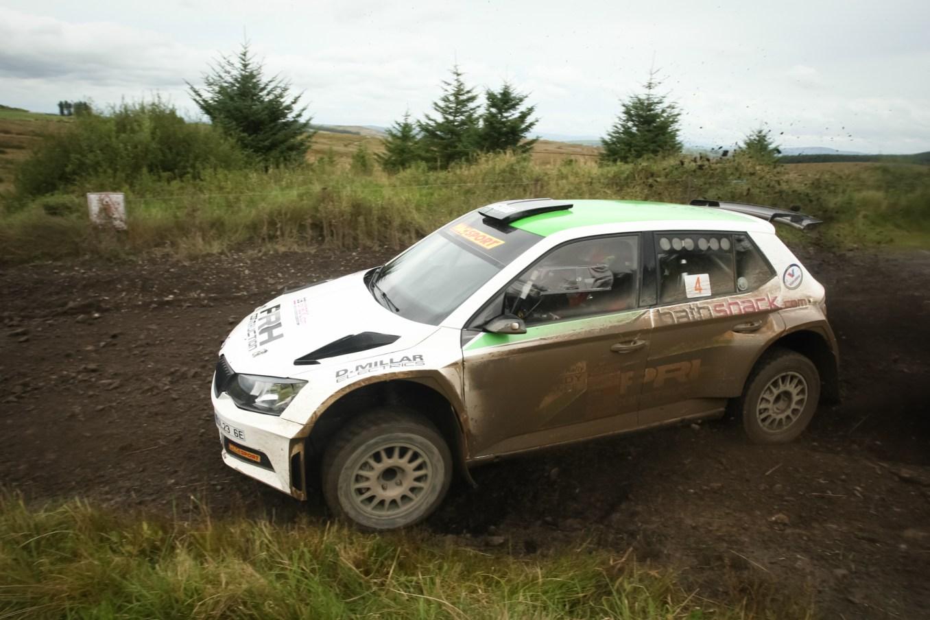 Desi Henry - Overall Bushwacker Rally Winner in his Skoda Fabia R5 (1)