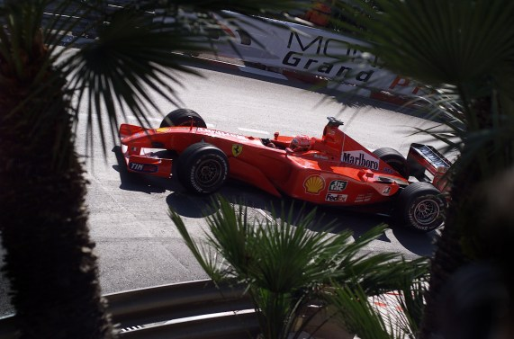 2001 Monaco Grand Prix - Race Monte Carlo, Monaco. 29th May 2001. Michael Schumacher, Ferrari F2001, action. World Copyright: Steve Etherington/LAT Photographic ref: 17.7 mb Digital Image