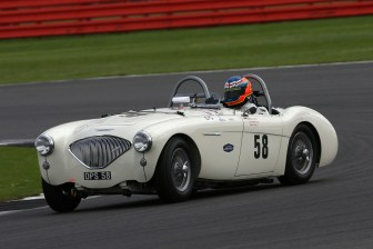 Silverstone Classic 28-30 July 2017 At the Home of British Motorsport Stirling Moss pre 61 Sports cars MINSHAW Jason, DODD Graeme, Austin-Healey 100 Le Mans Free for editorial use only Photo credit – JEP