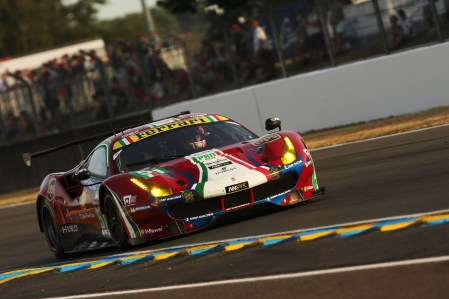 2017 Le Mans 24 Hours Circuit de la Sarthe, Le Mans, France. Thursday 15th June 2017 #51 AF Corse Ferrari 488 GTE: James Calado, Alessandro Pier Guidi, Michele Rugolo World Copyright: JEP/LAT Images