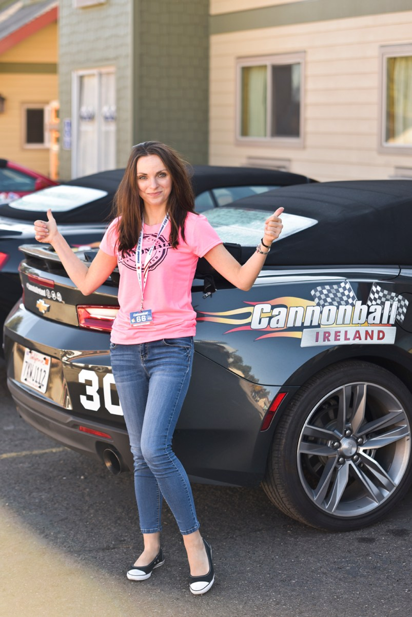 NO FEE PIC 02/11/17: Kasia Farat pictured in San Fransisco gearing up for his first Cannonbal USA. Ireland's CANNONBALL supercar event is currently blazing a trail through America. A group of sixty Irish Cannonballers jetted off from Dublin to San Francisco this week for the largest and most exhilarating foreign CANNONBALL event. The route takes in San Fransisco, Yosemite National Park, Mammoth Lakes, Death Valley, Las Vegas, Hollywood, Los Angeles, Santa Barbara and Santa Maria and Carmel before looping back to San Francisco and Cannonballers are driving in style in a convoy of high performnce convertible Muscle cars including Ford Mustangs, Cameros and Dodge Chargers and a Shelby. Cannonball is an Irish Superrcar Event which has raised almost €1,000,000 for Irish Childrens Charities. Photo: Kasia Farat