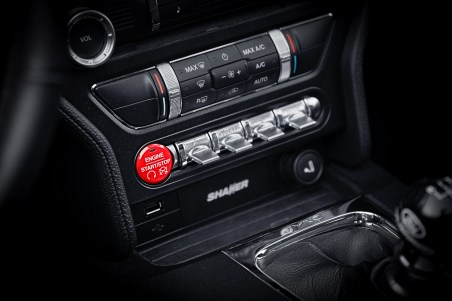Ford Performance Mustang red starter button