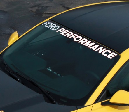 Ford Performance Mustang windscreen banner
