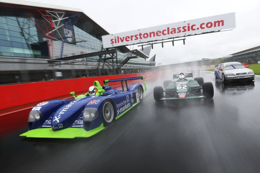 Silverstone Classic (20-21 July 2018) Preview Day, 2 May 2018, At the Home of British Motorsport. Silverstone Classic - Martin Short, Dallara, Jonathan Kennard - Tyrrell and Rickard Rydell, Volvo Free for editorial use only. Photo credit - JEP