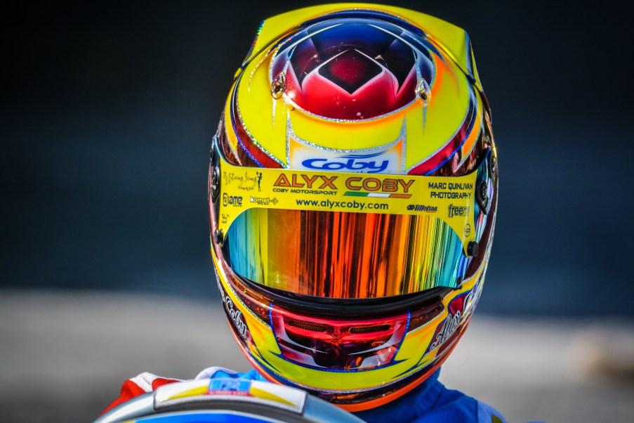 Alyx Coby at Round 4 of the Motorsport Ireland Karting Championship. Photo: Marc Quinlivan