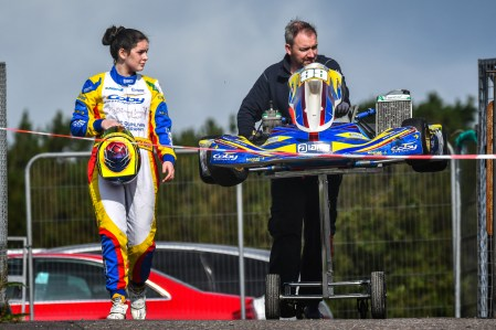 Alyx Coby at Round 8 of the Motorsport Ireland Karting Championship. Photo: Marc Quinlivan