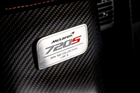 McLaren 720S Spa 68 Collection_dedication plate