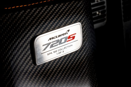 McLaren 720S Spa 68 Collection_dedication plate