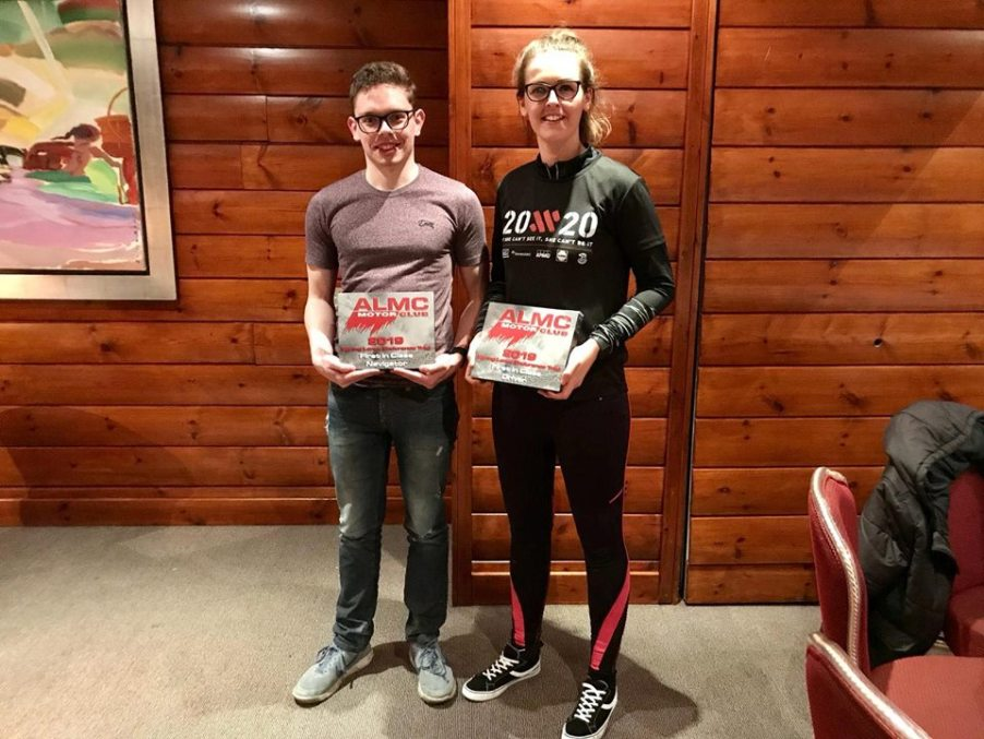 Nicole Drought and Aaron McElroy. Winners, Class 1A, ALMC Endurance Trial 2019 2