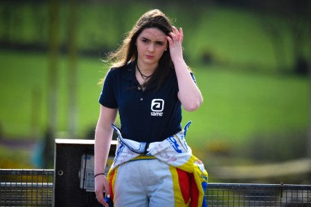 Alyx Coby at the Munster Karting Club O Plate in Cork. Photo: Marc Quinlivan