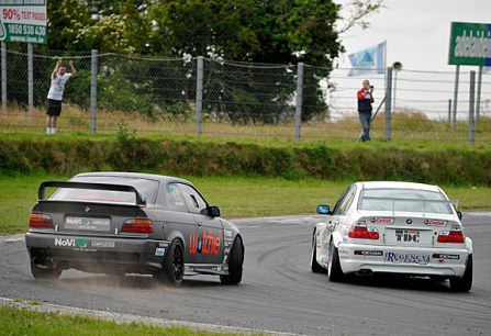 Holstein gets out of shape as he challenges the newer M3 of Dave O'Brien