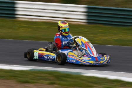 Alyx Coby at Round 1 of the Motorsport Ireland Karting Championship at Mondello Park Photo: Marc Quinlivan.
