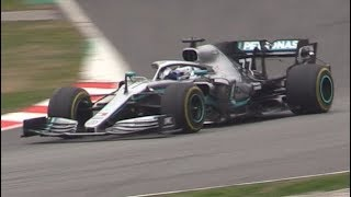 F1 2019 PreSeason Barcelona Test Day 3-Pit Stop Practice,Sparks,Sound & More