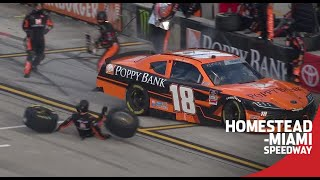 Daniel Hemric hits crew member, tire carrier takes a tumble | NASCAR Xfinity Series at Homestead