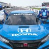 JIMMIE JOHNSON AND ALEX PALOU IN THE HONDA CIVIC TYPE-R PACE CAR
