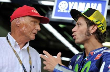 Niki Lauda e Valentino Rossi a Brno, in Repubblica Ceca (CTK via AP Images)