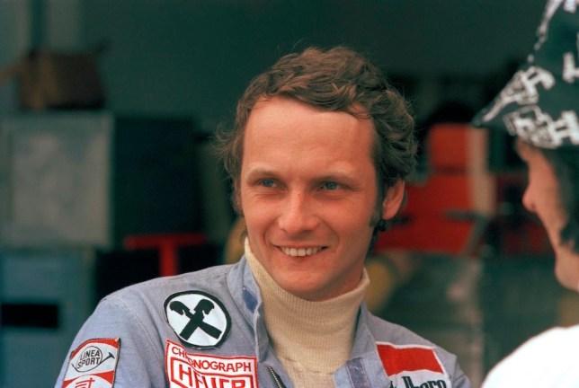 Niki Lauda a Buenos Aires, Argentina, nel gennaio del 1975 (AP Photo/E. Di Baia)