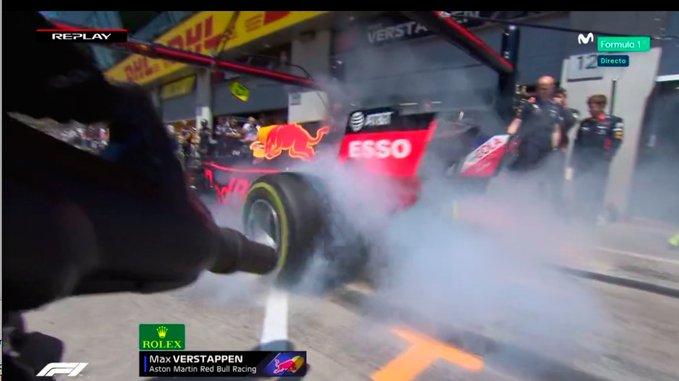 Diretta F1 - Prove Libere GP Austria - Red Bull - Verstappen Burnout 2