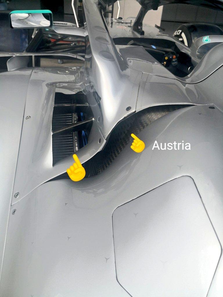 mercedes, massimo raffreddamento per il gp di austria di formula 1