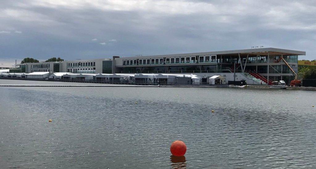 I nuovi box del circuito di Montreal visti dall'acqua