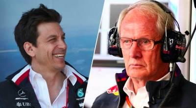 Toto Wolff (Mercedes) e Helmut Marko, Mercedes (Red Bull F1)