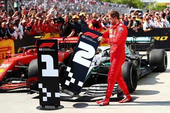 Vettel cambia l'ordine delle tabelle al termine del gp del canada