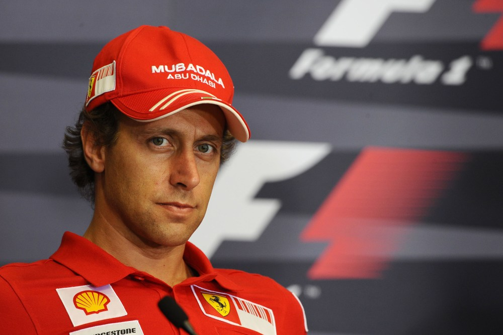 Luca Badoer corre il suo primo Gran Premio di Formula 1 con la Ferrari