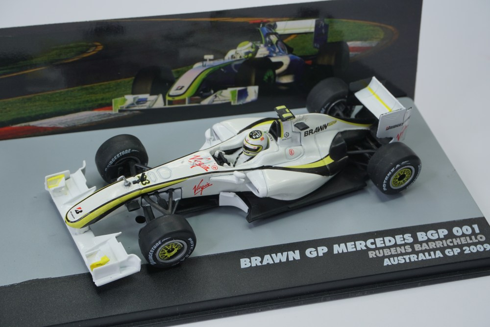 barrichello brawn gp modellino