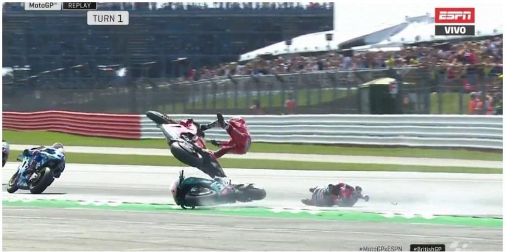 MotoGP Silverstone - Video Incidente Dovizioso