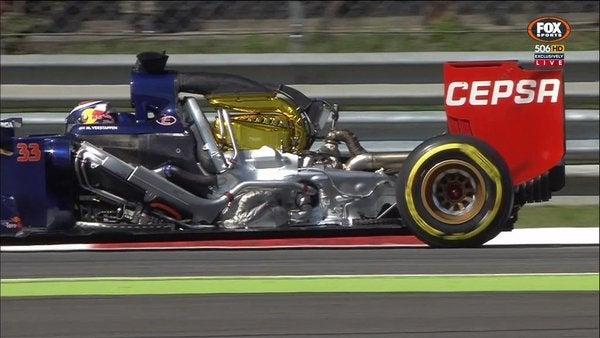 f1 monza 2015 verstappen cofano motore toro rosso