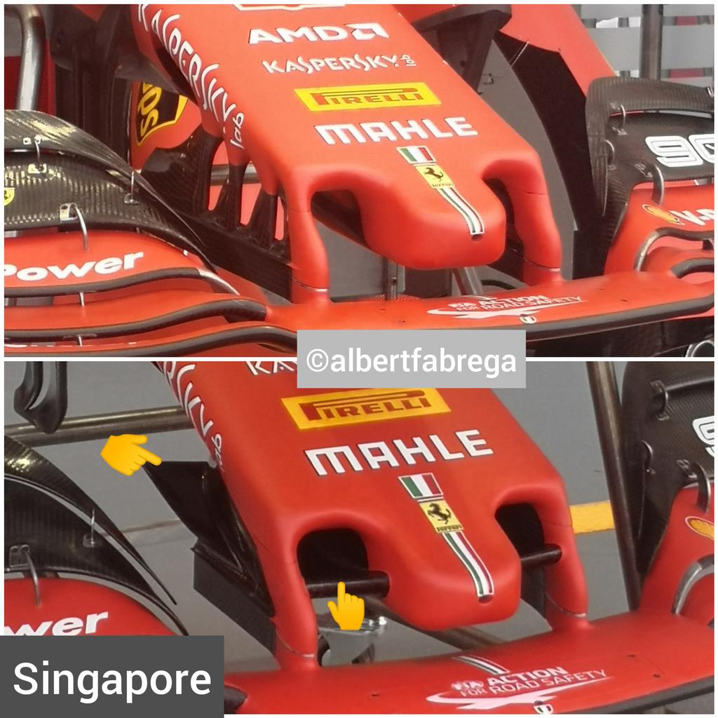 f1 ferrari ala anteriore cape gp singapore