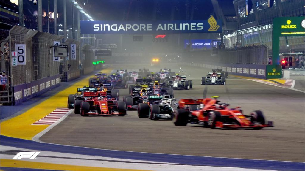 f1 partenza gara singapore