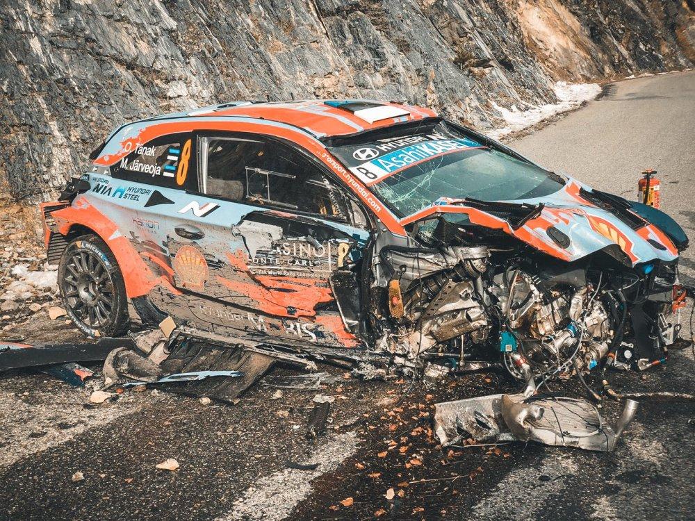 tanak video incidente rally monte carlo on board