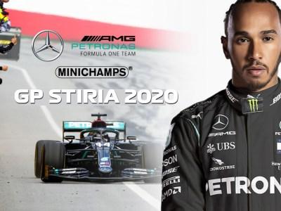 modellino f1 mercedes nera hamilton minichamps 2020