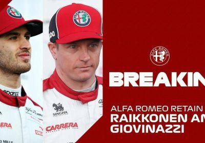Alfa Romeo, Raikkonen e Giovinazzi rinnovano fino al 2021
