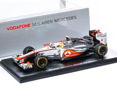 modellino f1 hamilton mclaren mercedes 2012