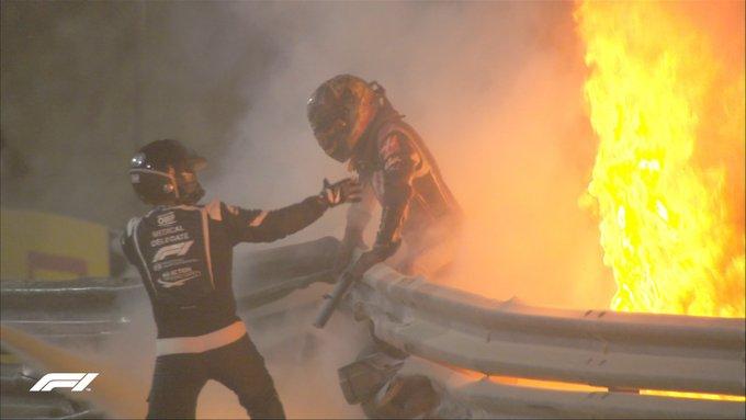 F1 VIDEO- il pazzesco incidente di Grosjean in Bahrain