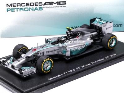 modellino f1 mercedes w05 rosberg spark