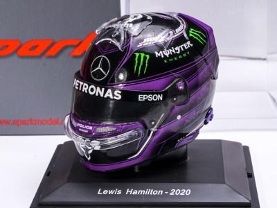 modellino casco hamilton f1 2020 nero