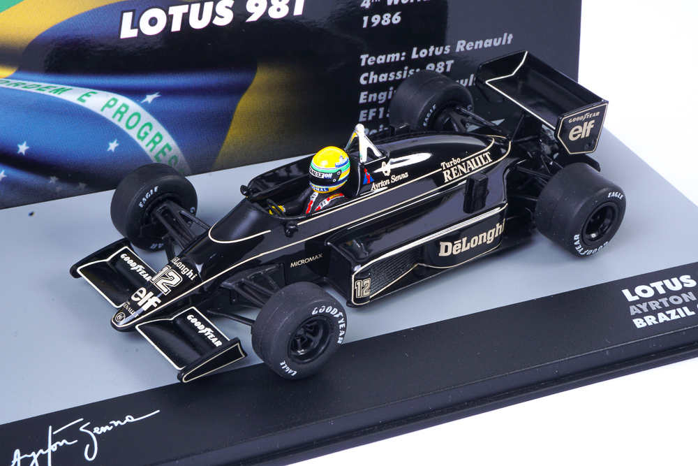 modellino f1 senna lotus 98t 1986 1:43