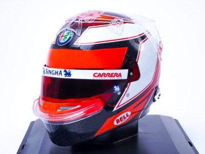 modellino casco kimi raikkonen alfa romeo scala 1:5 edicola