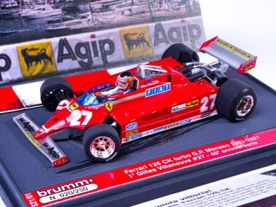 modellino gilles villeneuve monaco 1981 edizione limitata 1:43