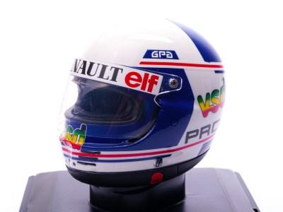 modellino casco alain prost scala 1/5 renault