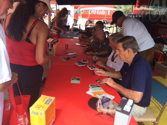 Fans receive autographs from veteran drivers at Darlington Raceway on September 1-3