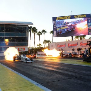 Jet Dragsters race down Gainesville Raceway Saturday night