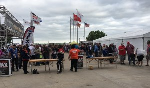 Fans wait in line at TMS