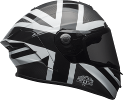 bell helmets race star flex street helmet ace cafe blackjack matte gloss black white