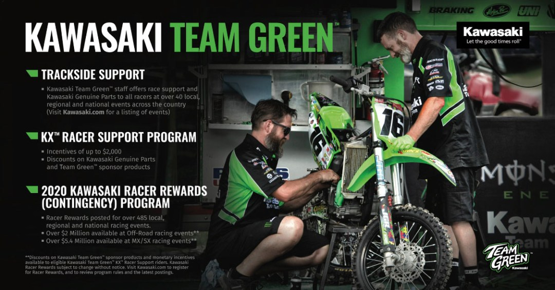 Kawasaki Team Green Releases 2020 Racer Rewards Program Along with the New and Improved KX™ Lineup