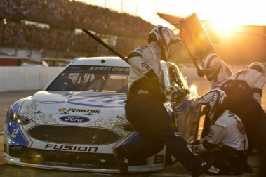 Four tires and fuel for the 2 of Brad Keselowski during the 2016 Southern 500 in Darlington, Sc, Sunday, September 4, 2016.